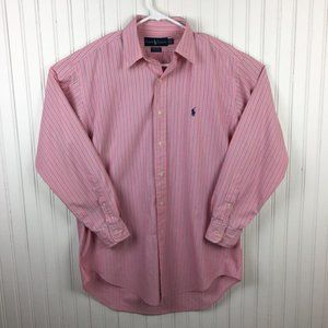 Ralph Lauren Yarmouth Dress Shirt Pink Striped